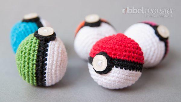 Amigurumi – Crochet Poké Ball – Pokémon Ball