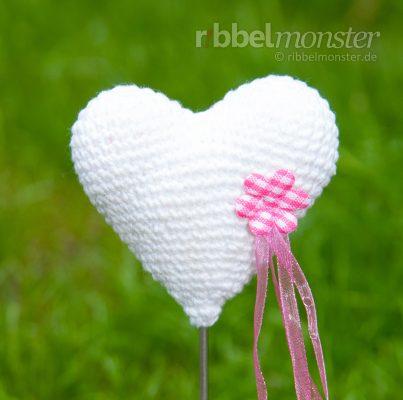 Amigurumi – Crochet Heart Flower Spit