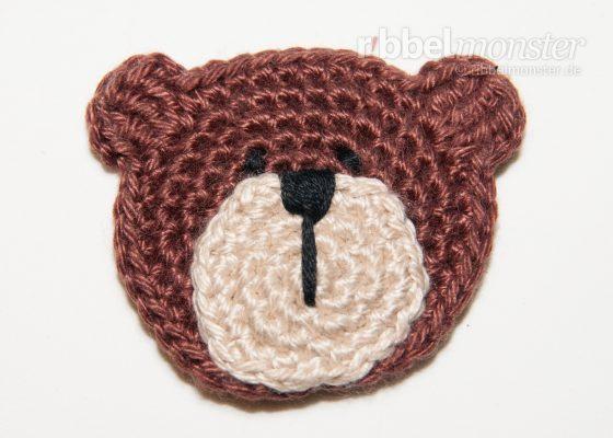 """Patch – Crochet Small Teddy Bear """"Bertram"""""""