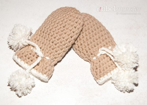 Crochet Mittens – without Thumb with Half Treble Crochet Stitches