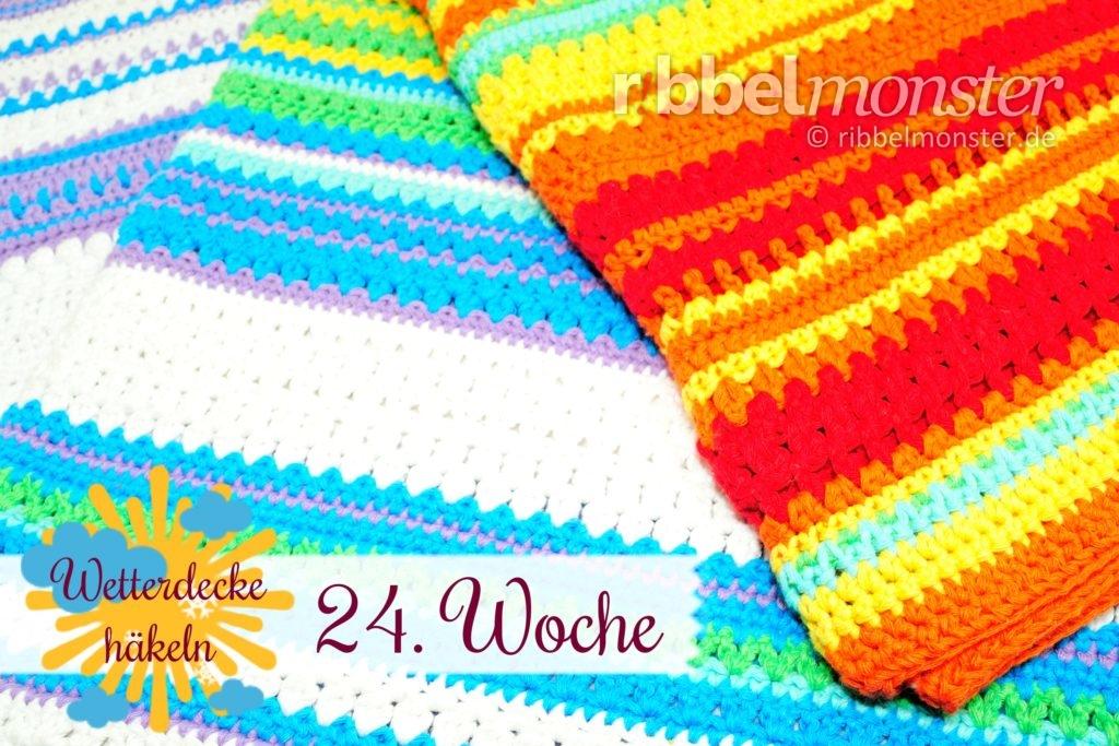 Crochet Weather Blanket Cal 24th Week Free Pattern Ribbelmonster