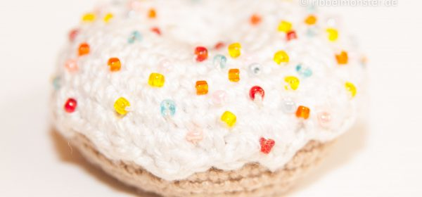 kostenlose Anleitung - Amigurumi - großen Tuttifrutti Donut häkeln