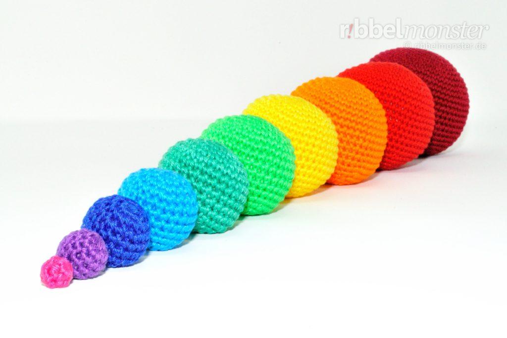 Amigurumi - Crochet Simple Balls - free pattern - Ribbelmonster