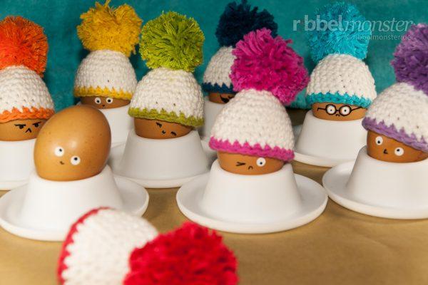 """Crochet Egg Warmer """"Bobbin Beanie BigBobble"""""""