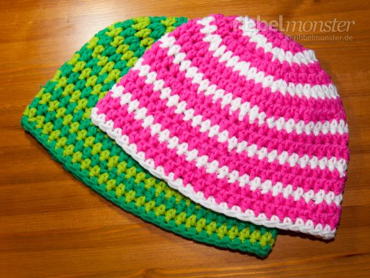 Crochet Hat – Beanie with Half Treble Crochet Stitches in Circle Rounds