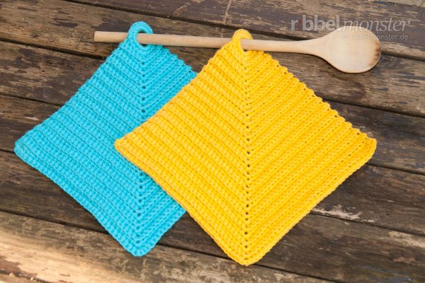 Crochet Pot Holders – Ribbed out of the Corner