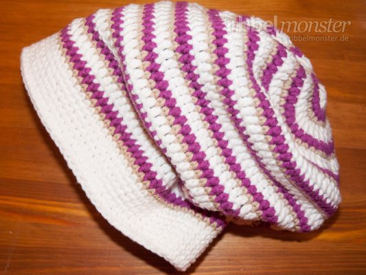 Crochet Hat – Long Beanie with Different Stitches