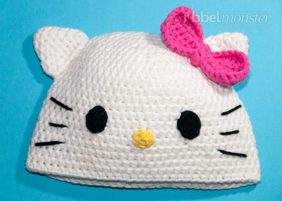 "Crochet Hat – Cat Beanie ""Kitty"""