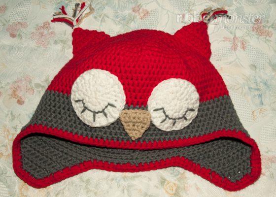 """Crochet Hat – Crochet Owl Hat """"Sleeping Owl"""""""