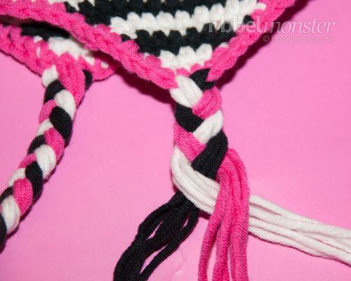 Crochet Hats – Tie Braids to Ear Flaps