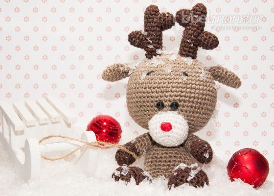 """Amigurumi – Crochet Reindeer """"Rudi"""""""
