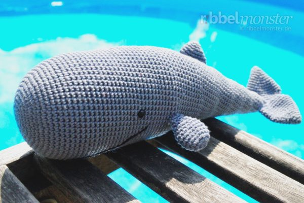 "Amigurumi – Crochet Sperm Whale ""Moby"""