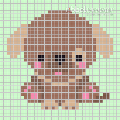 Pixel Pattern – Baby Dog – 35×35
