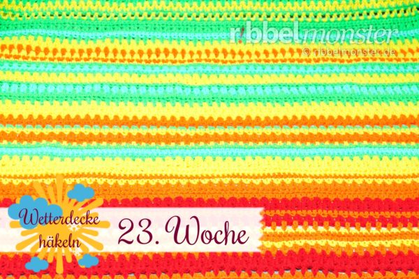 Crochet Weather Blanket – CAL – 23rd Week