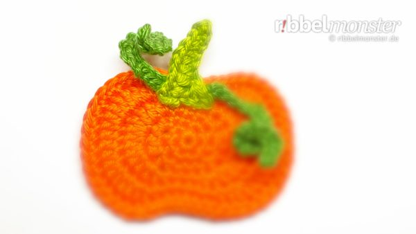 Crochet Patch – Circled Pumpkin